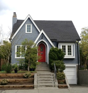 Cute Seattle Tudor Home with Red Door