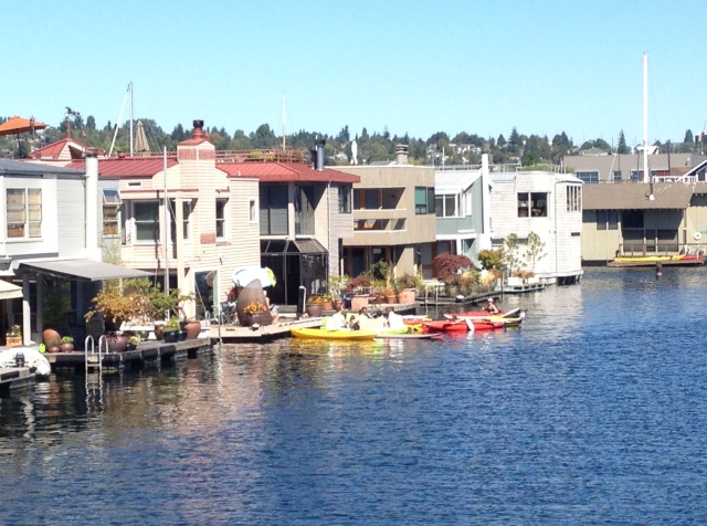 Photo of Floating Homes in Seattle on Lake Union, these are moored in Eastlake.