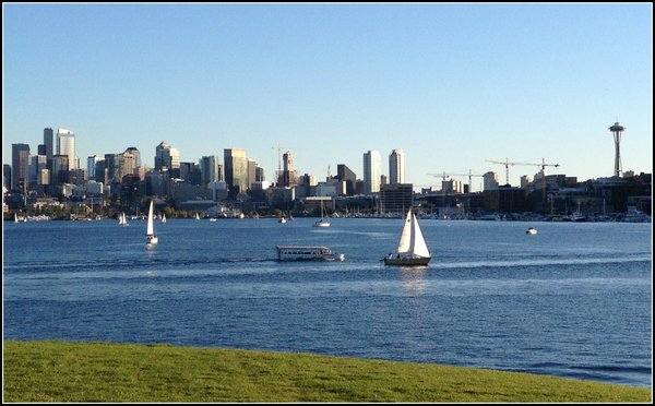 Seattle Building Boom,, Seattle from Lake Union Sept 2015