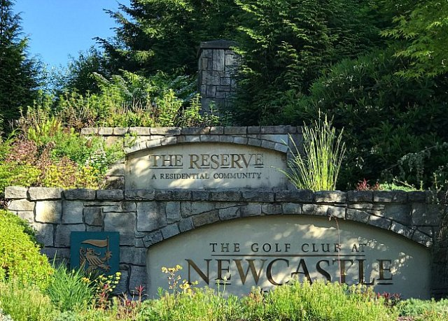 Sign for The Reserve at Newcastle. Photo taken by Deborah Burns, Art of Real Estate