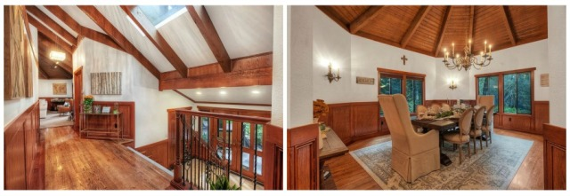 Entry and dining rooms, Bridle Trails in Bellevue Home for Sale. 13106 NE 38th Place, Bellevue, WA 98005. MLS 1332223